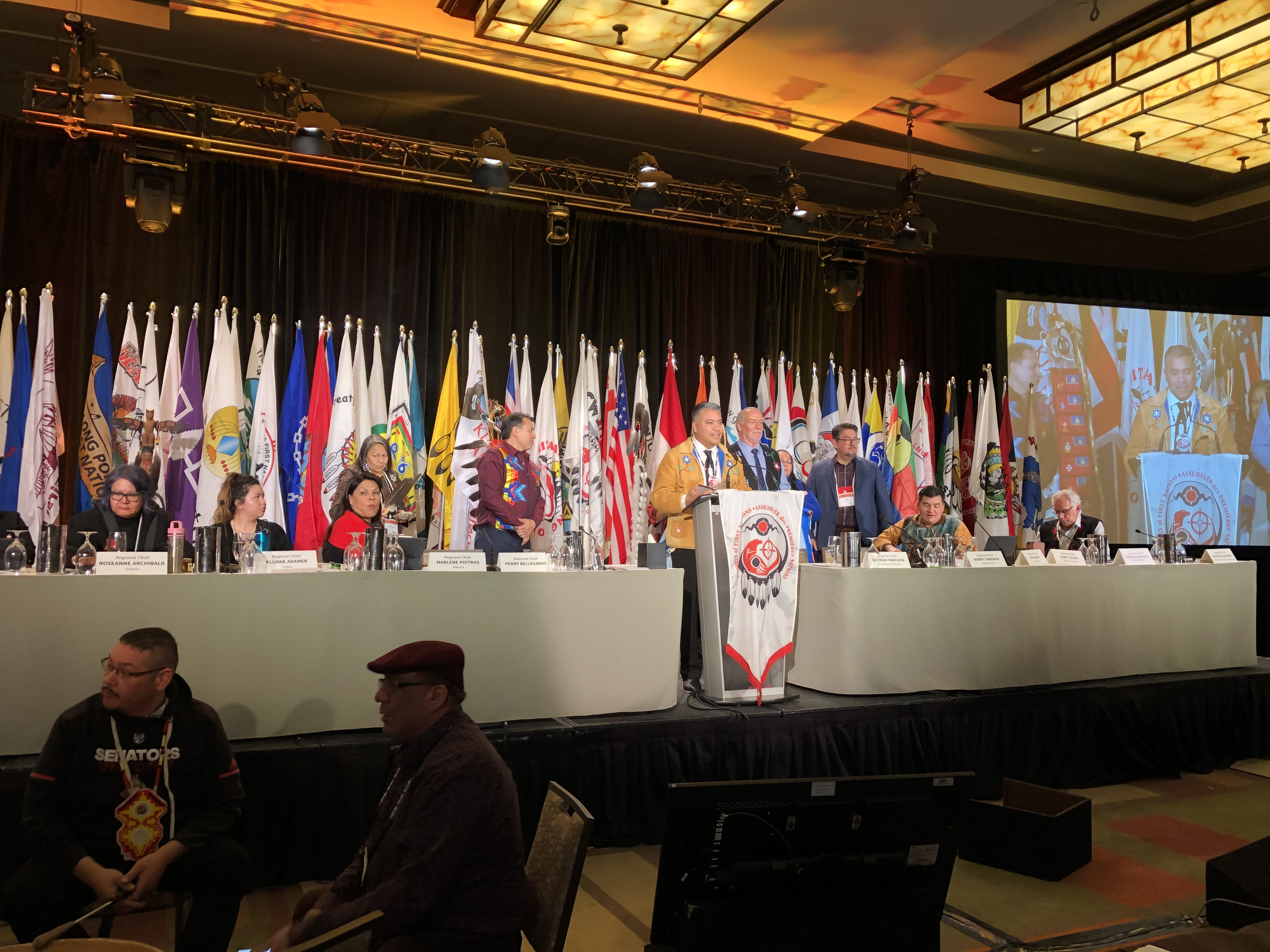 Regional Chief Terry Teegee speaking at AFN SCA