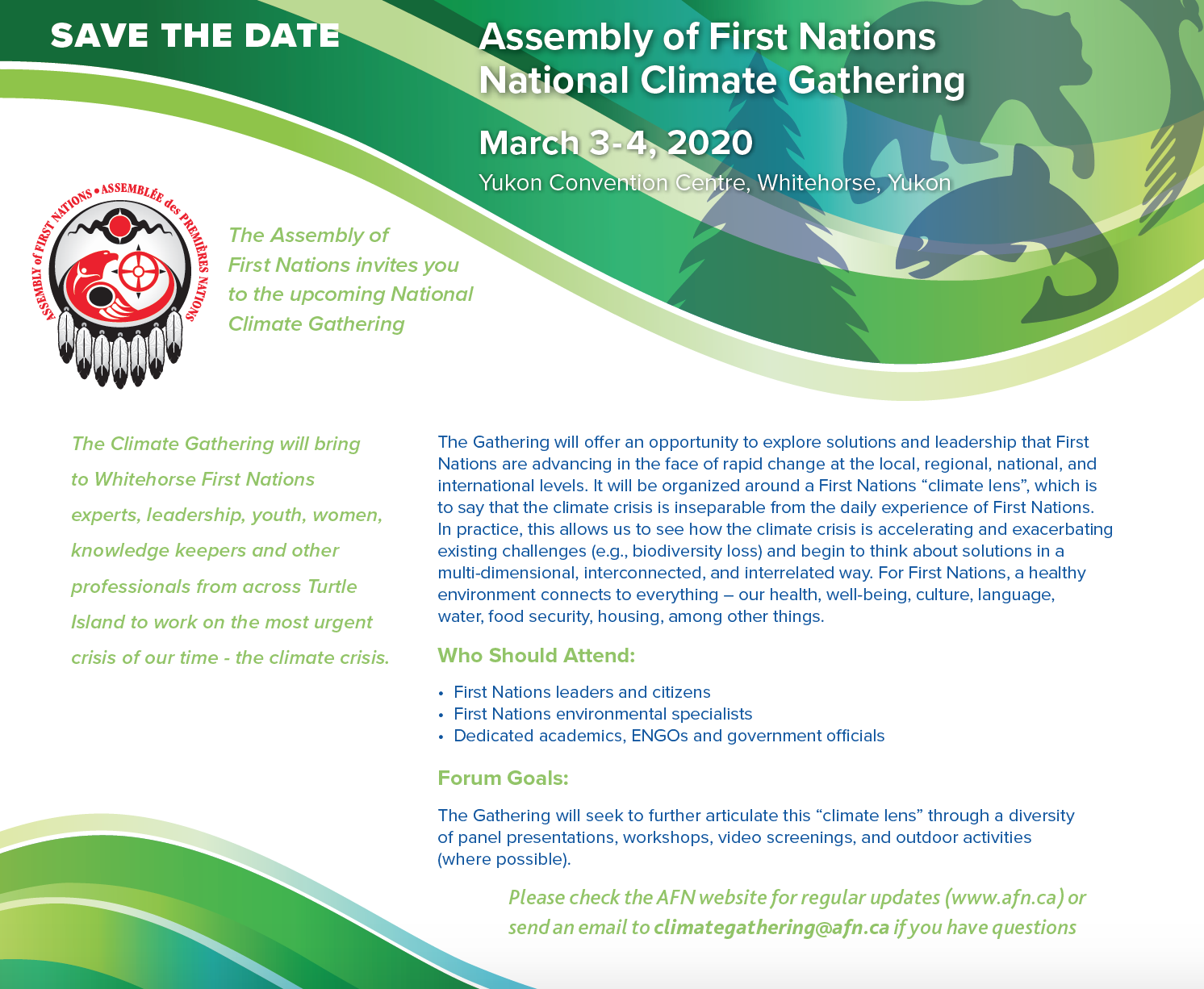 Save the Date Climate Gathering