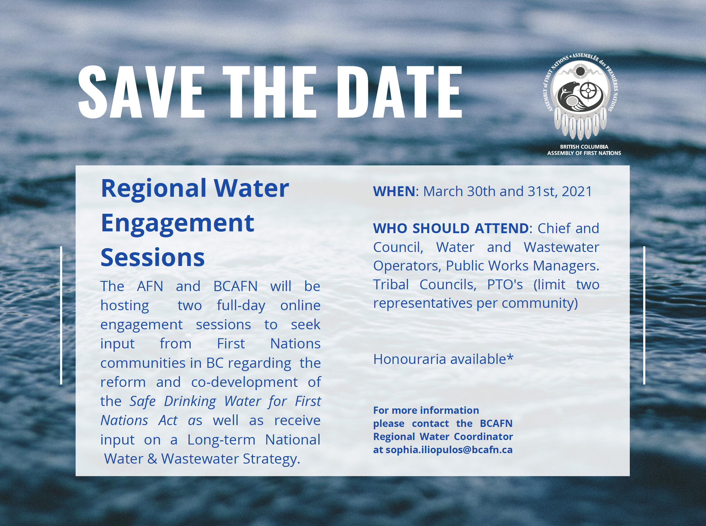 Save the Date Water
